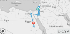 Israel, Jordan and Egypt with Nile Cruise 12 days - 15 destinations