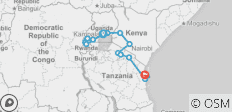 East Africa Overland: Serengeti & Safari Drives - 16 destinations