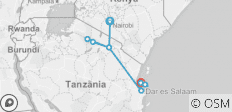 Nairobi to Zanzibar Adventure (from Nairobi to Stone Town) - 9 destinations