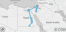 Cairo to Amman tour & Ancient Egypt River Cruise 2019/2020 - 20 destinations