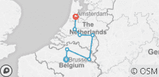 Holland & Belgium at Tulip Time (Brussels to Amsterdam, 2019) - 7 destinations