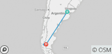 Buenos Aires & Calafate or Viceversa - 5 days - 4 destinations