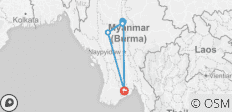 Glimpse Of Myanmar - 9 destinations
