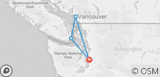 Seattle, Victoria & Vancouver - 4 destinations