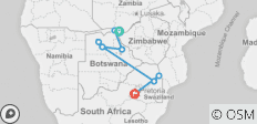 Falls, Botswana and Kruger - 12 days - 9 destinations
