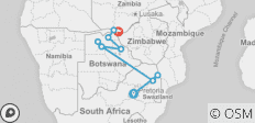 Kruger, Botswana and Falls - 12 days - 10 destinations