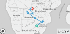 Kruger, Botswana and Falls - 12 days - 11 destinations