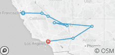 Western Adventure Southbound  (from San Francisco to Santa Monica) - 9 destinations