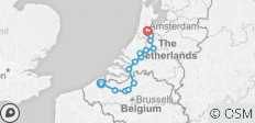 Bruges to Amsterdam Bike & Barge - Deluxe - 14 destinations