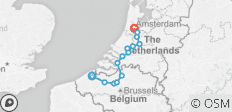Bruges to Amsterdam - Comfort - 14 destinations