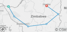 10 days Best of Zimbabwe Tour, Victoria Falls to Harare - 6 destinations