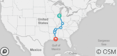 The Blues Highway from Chicago to New Orleans Summer 2019 - 7 destinations