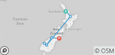 Contrasts of New Zealand (End Christchurch, 10 Days) - 7 destinations