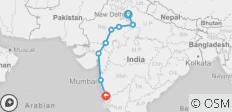 Delhi to Goa (from New Delhi to Goa) - 8 destinations