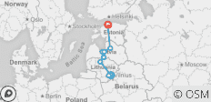 Highlights of the Baltic States in 8 Days (Private Tour) - 9 destinations