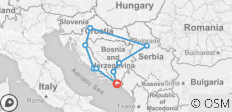 A101 EXPLORE CROATIA, BOSNIA & HERZEGOVINA AND SERBIA  - 9 destinations