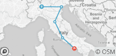 Italy escorted tour by rail: from Milan to Sorrento - 5 destinations