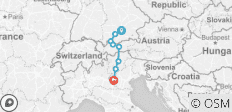 Munich to Verona - 8 destinations