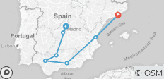 Spain\'s Classics  (Madrid to Barcelona) (2019) - 8 destinations