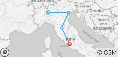 Italy escorted tour by rail: from Milan to Rome - 4 destinations