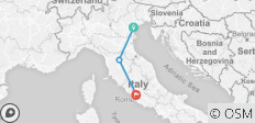 Italy escorted tour by rail: from Venice to Rome  - 3 destinations