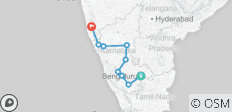 Bangalore to Goa (via Hampi) Bike Tour - 9 destinations