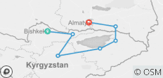 Highlights of Kyrgyzstan and Kazakhstan - 7 destinations