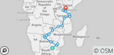 Kruger to Kenya - 33 days - 23 destinations