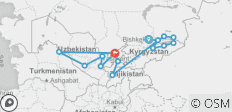 Multi-Stan Adventure - Bishkek to Tashkent - 14 destinations