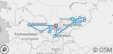 Multi-Stan Adventure - Bishkek to Tashkent - 15 destinations