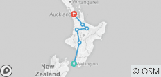Northern Explorer from Wellington to Otorohanga, Glowworm Caves, Wai-O-Tapu, Hobbiton, finish Auckland. - 6 destinations