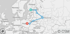 Russia Plus (Start Helsinki, End Warsaw, 12 Days) - 8 destinations