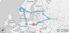 Scandinavia & Russia Plus (Start Berlin, End Warsaw, 23 Days) - 19 destinations