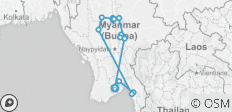 Burma in Depth (2019) - 16 destinations