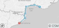 Cycle Marseille to Barcelona - 9 destinations
