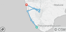 Cycle Kerala - 9 destinations