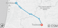 Self-Guided Cycling Canal de la Garonne - 7 destinations