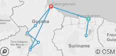 Guyana and Suriname Explorer - 9 destinations