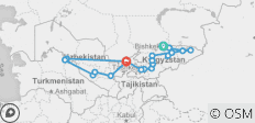 The Silk Road of Kyrgyzstan and Uzbekistan - 20 destinations