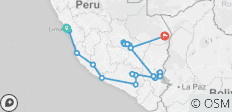 Peru and the Inca Trail + Amazon Extension (2019) - 23 destinations
