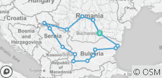 Grand Tour of Romania, Serbia and Bulgaria - 16 destinations