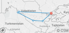 The Silk Road of Uzbekistan - 6 destinations