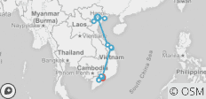 On Foot in Vietnam - 14 destinations