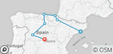 The Novelties of Northern Spain  (Barcelona to Madrid) (2019) - 7 destinations