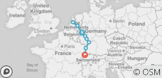 8 days cruise Cologne-Amsterdam-Basel - 10 destinations