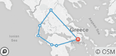Greece Active Tour (Athens – Peloponnese – Kefalonia – Meteora) - 7 destinations