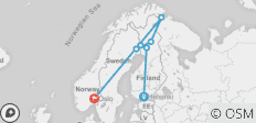 Scandinavian Northern Lights Feast 7 Days (Finland, Sweden and Norway) - 7 destinations