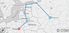 Moscow to Warsaw - 6 destinations