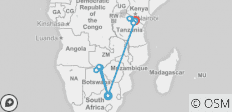 Golden Trails of East Africa 2019 (from Johannesburg to Arusha) - 10 destinations