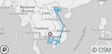 Vietnam + Cambodia Intro  - 13 destinations
